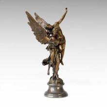Mitología Estatua Ángeles Amantes Bronce Escultura TPE-055