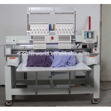 Multi головка двойная игла вышивальная машина schiffli вышивки машина