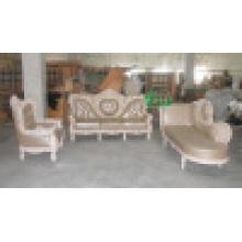 Sofa en cuir en bois pour des meubles de salle de séjour (YF-D986)