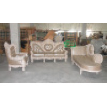 Деревянный кожаный диван для гостиной мебели (ЖЛ-D986)