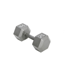 25LB ferro fundido Hex Dumbbell