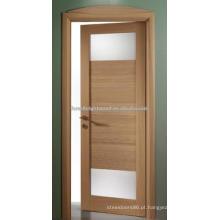 Portas de balanço de madeira de acabamento carvalho com 2 vidro fosco Lite (S19-09)