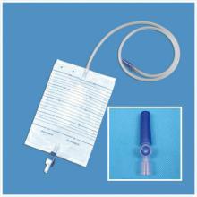 Sac de vidange de qualité médicale avec vanne à orifice d'échantillonnage