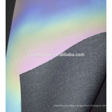 Top quality rainbow color PU reflective leather silver raw material for shoes