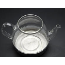 Blowing Glass Tea Pot with Handle and Lid, 900 Ml