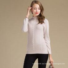 Verschiedene Farben Frauen Cashmere Wollpullover mit Strick-Design-Muster