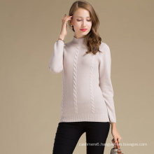 Various Colors Women Cashmere Woolen Sweater With Knitwear Design Pattern