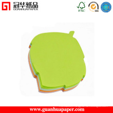 50 Sheets Custom Green Leaf Shaped Sticky Note