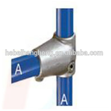 Galvanized malleable iron tee key clamp fitting