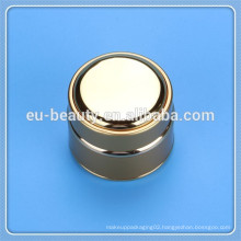 50g metal cream jar with glass bottle inside