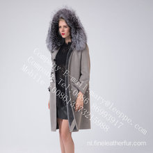 Hooded Spanje Merino Shearling jas in de winter