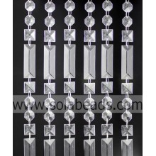 Mariage 50MM & 20MM & 18 MM cristal perles String Garland