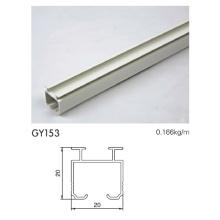 Perfil de perfil de aluminio con blanco recubierto de polvo