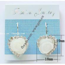 Gets.com rhinestone sterling silver floral cuff bracelet
