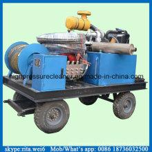 Equipo de limpieza de aguas residuales de la lavadora de tuberías de drenaje de alta presión