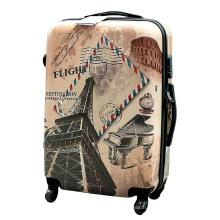 3PCS Set Hard Shell Luggage, Iron Tower PC Trolley Suitcase