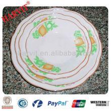 2014 nuevo diseño personalizó las placas de la porcelana / la placa del recuerdo de la porcelana / la placa decorativa de la uva