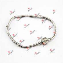 Bracelet personnalisé en laiton personnalisé en caoutchouc à chaîne en serpent en gros (KDK60226)