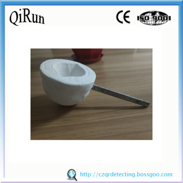 High Quality for Melting Steel Carbon Measurement Foundry Ceramic Fiber Spoon export to Guadeloupe Factories