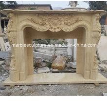Alta calidad mano tallada de mármol chimenea (SY-MF220)
