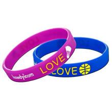 Silicone Simple Sport Nonremovable Wristband