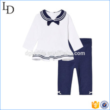 Navy and White Body kids cloth set 100% cotton top and pants sets