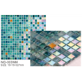 Complex ice cracked glass mosaic flower pots