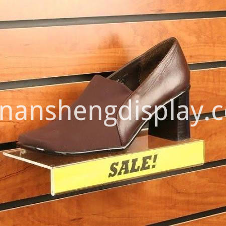 acrylic wall mounted shoe rack