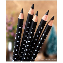 Crayon à sourcils imperméable noir, ombrage de couleur facile pour l'eye-liner promotionnel