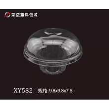 Mushroom Shape Transparent Plastic Box for Cake