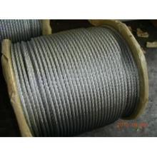 Cuerda de alambre de acero Galv de 6 x 12 + 7 FC