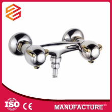 shower and bath mixer surface mounted two handle shower faucet