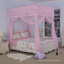 SHUI BAO Romantique Folding Acier inoxydable Single door Palace Mosquito Net