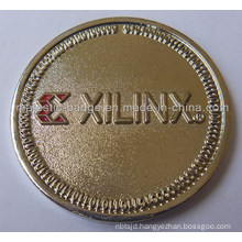 Gold Plating & Soft Enamel Customized Xilinx Coin