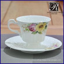bone china elegant coffee cup & saucer for high tea time