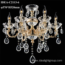 wrought iron chandeliers candle crystal lighting