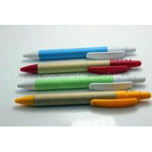 Clip plástico promocional de la pluma de papel para el suministro de oficina