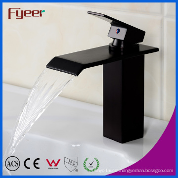 Black Orb Waterfall Basin Faucet Bathroom Water Tap Mixer (Q3003B)