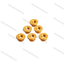 Hobbycarbon M4 Aluminum flange lock nuts,gold color