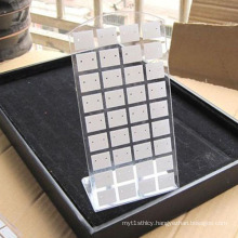 L Form Transparent Perspex Jewelry Display Stands, Eearring Display Counters