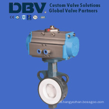 Wafer Type PTFE Lined Butterfly Valve