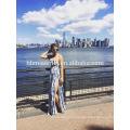 2017 Wholesale Lace bandage Dress High Split Sexy Two Piece Bandage Dress