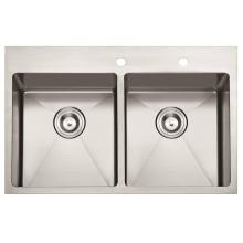 """American Standard Hm3322 - Fregadero de cocina de acero inoxidable hecho a mano, 32 """"X22"""" X10 """", 32"""""""