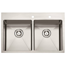"American Standard Hm3322 32""X22""X10"" Topmount Hand Made Stainless Steel Kitchen Sink"