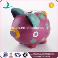 Décoratif Argent Banque en céramique Porc