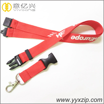 Suppliers plastic accessories cheap cord red lanyards