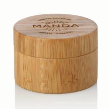 15/20/25/30/50 / 100g aluminium bambou récipient soins de la peau naturel conteneur avec bambou couvercle bambou pot vente chaude