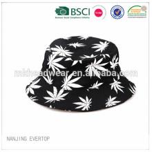 Personalizado todo el algodón de impresión de pesca sombrero