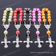Pretty Purple-Blue Plastic Bead Holy Catholic Decade Rosary
