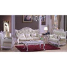 Echtes Ledersofa für Wohnzimmermöbel (D992)